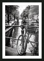 Amsterdam in a raining day Picture Frame print
