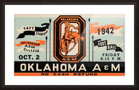 Vintage Oklahoma A&M Art Picture Frame print