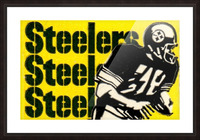 Vintage Pittsburgh Steelers Football Art Reproduction Picture Frame print