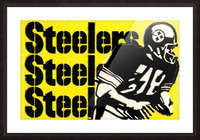 Row One Brand Vintage Pittsburgh Steelers Football Art Print Art Reproduction (1974) Picture Frame print