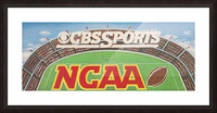 CBS Sports NCAA Football Ad Reproduction_Vintage Sports Ads_Retro 1980s Ad Picture Frame print