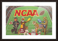 1984 NCAA Football Ad Reproduction_Vintage Sports Ads_Retro Sports Advertisement Picture Frame print