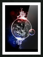 Earth Atmospheric Vapors Picture Frame print