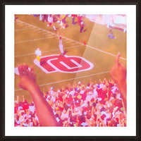 Oklahoma Football Art Owen Field OU Sooners Touchdown Art_Watercolor Style Retro 1980s Sports Art Picture Frame print