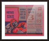 Vintage Football Ticket Stub Art  Picture Frame print
