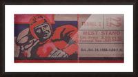 Vintage Football Art_Ticket Stub Reproduction Prints Picture Frame print