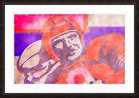 Vintage Quarterback Football Art_Watercolor Style Sports Art Print Picture Frame print