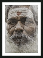 The Holy Man of Varanasi Picture Frame print