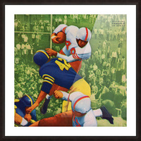 Vintage College Football Program Cover Art Print Picture Frame print