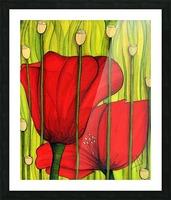 Coastal poppies Picture Frame print