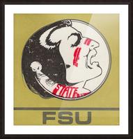 Vintage FSU Florida State University Seminoles Art_Ticket Stub Art Reproduction Print Picture Frame print