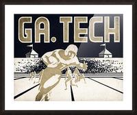 Vintage Georgia Tech Football Art_College Football Fine Art Print Picture Frame print