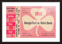 1953_College_Football_Notre Dame vs. Georgia Tech_Notre Dame Stadium_College Ticket Collection Art (1) Picture Frame print