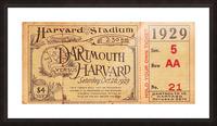 1929 Dartmouth vs. Harvard Picture Frame print