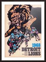 1968 Detroit Lions NFL Press Guide Reproduction Art_Detroit Michigan Gift Ideas Picture Frame print