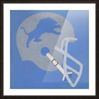 Vintage Detroit Lions Helmet Art (1965) Reproduction Fine Art Print (1) Picture Frame print
