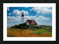 Maine Lighthouse Picture Frame print