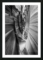 B&W Zebra Slot Canyon II Picture Frame print