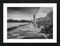 B&W Golden Gate Sunset Picture Frame print