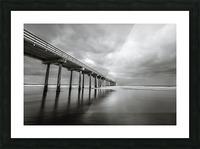 B&W Scripps Pier San Diego Picture Frame print