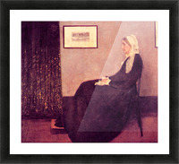 Whistlers Mother by James Abbot McNeill Whistler Picture Frame print