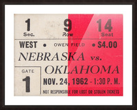 Oklahoma Sooners Owen Field Metal Sign_Ticket Stub Signs Picture Frame print