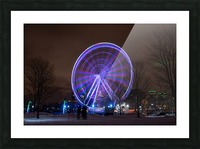 The ferris wheel Picture Frame print