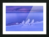 Icy blues Picture Frame print