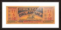 1934 Iowa State vs. Oklahoma Picture Frame print
