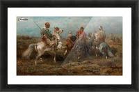 Arabische Reiter Picture Frame print