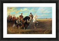 Arab Horsemen Picture Frame print