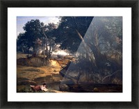 Forest of Fontainebleau by Corot Picture Frame print