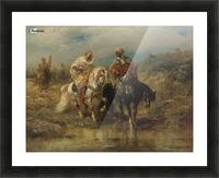 Arab horsemen raiding Picture Frame print