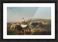 Herde mit eselreitendem Hirtenknaben Picture Frame print