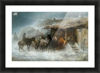 Shelter from the Blizzard Picture Frame print