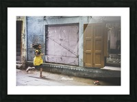 Varanasi Window - The girl Picture Frame print