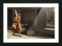 Varanasi Window - Pilgrim Picture Frame print