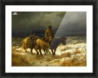 Horseman Picture Frame print