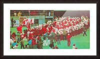 nebraska football art vintage college poster Picture Frame print