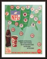 Vintage Coke NFL Bottle Cap Advertisement Poster Picture Frame print