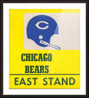 vintage chicago bears art poster metal canvas Picture Frame print