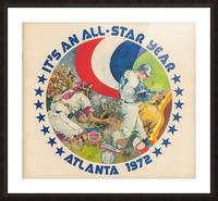 its an all star year atlanta 1972 baseball art Picture Frame print