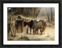 Resting horses Picture Frame print