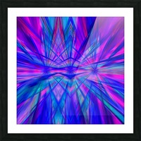 High Vitality - pink blue purple line abstract wall art Picture Frame print