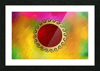 Signs of power and protection amulets sun Picture Frame print
