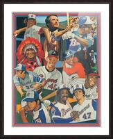 atlanta braves poster vintage baseball retro sports art reproduction Picture Frame print