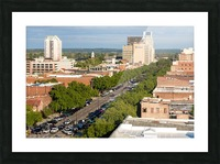 Broad Street Downtown Augusta GA Aerial View 8259 Picture Frame print