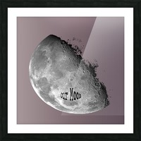 Our Moon Picture Frame print