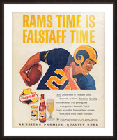 vintage falstaff beer ad la rams poster retro ads reproduction art Picture Frame print