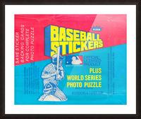 vintage fleer mlb baseball sticker package art design reproduction art Picture Frame print